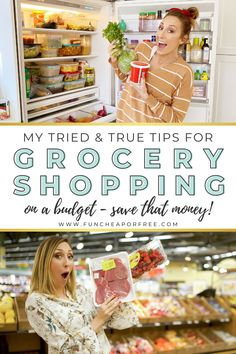Want to save up to 50% on your food bill? I've got tricks, tips, and hacks for grocery shopping on a budget. Get my insider knowledge of the grocery store and food storage tips to save some serious money!