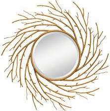 Kichler 78214 Kayla Antique Gold 42-Inch Beveled Wall Mirror