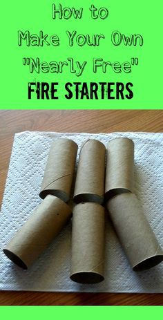 How to Make Your Own Nearly Free Fire Starters