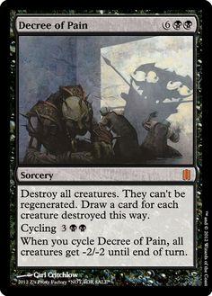 Decree of Pain, zeerbe, proxy, digital render. Z's Proxy Factory, MTG, Magic the Gathering