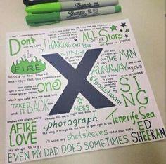 I wish I had nice handwriting so I could make something like this.