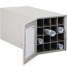 Keep your important over-sized documents stored out of the way with the 16 Section Blueprint File Cabinet.