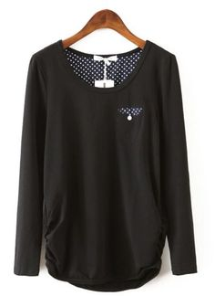 Simple black long sleeve shirt.  Love.  Would go nicely with the Mickey Mouse leggings too.