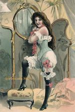 Victorian Lady In Bloomers - New 4x6 Vintage Image Photo Print - RA068