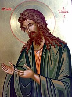 John the Baptist Religious Images, Religious Icons, Religious Art, Byzantine Icons, Archangel Michael, John The Baptist, Orthodox Icons, St Michael, Christian Art