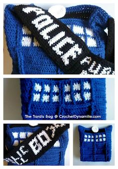 My heart started fluttering when I saw this! Free pattern!! Crochet Dynamite: The Tardis Bag - A love story in 3 parts