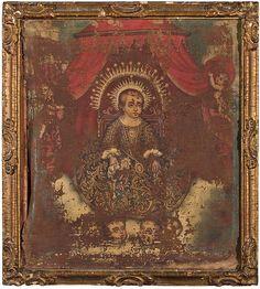 COLONIAL SCHOOL, 18TH CENTURY, Child Jesus - ESCUELA COLONIAL, S.XVIII     Niño Jesús
