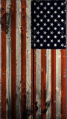 US Wooden Flag Texture iPhone 6 Wallpaper