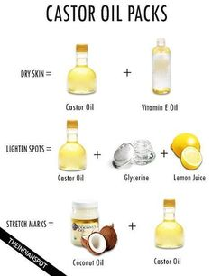Castor oil comes from the castor seed, native to India. It is extremely high in ricinoleic acid, which is thought to be responsible for its health promoting abilities. Ricinoleic acid, an unsaturated fatty acid and a hydroxyl acid, has anti-inflam Castor Oil Uses, Castor Oil For Skin, Castor Oil Packs, Castor Oil Benefits, Oils For Skin, Natural Treatments, Skin Treatments, Cosmetic Treatments, Natural Oils