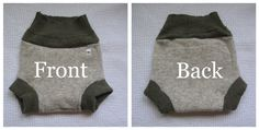Great instructions on how to make WOOLIE SOAKER style DIAPER COVERS from Thrifted 100% wool or cashmere sweaters!!