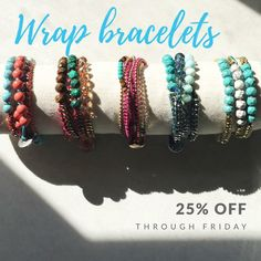 Everyone needs a wrap bracelet in their collection. Treat yourself to a Convertible wrap bracelet, that can be worn as a bracelet, choker or headpiece right now for 25% off-link in bio!