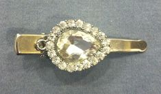 VINTAGE RHINESTONE HAIR CLIP Large Center Stone Surrounded by many small stones. | Clothing, Shoes & Accessories, Vintage, Vintage Accessories | eBay!