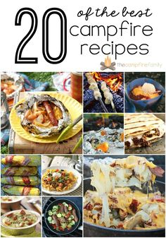 20 of the BEST campfire recipes! TheCampfireFamily.com