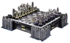 Warner Bros. Batman Gotham Cityscape Chess Set... Two of my favorite things, chess and Batman, that's a win