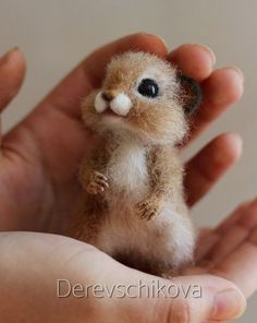 * Needle felted art by Stacy - Best Adorable Animals Baby Animals Pictures, Cute Animal Photos, Cute Animal Drawings, Cute Drawings, Baby Animals Super Cute, Cute Little Animals, Cute Funny Animals, Cute Cats, Needle Felted Animals