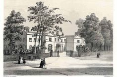 Everton House on Everton Road, owned first by William and then John Gregson, was an outstanding villa property in the 1800s, positioned close to the present West Derby Road junction. Its railed off well can be seen to the left of the main gate. Later, two local pubs would be famously called Gregson's Well.