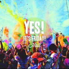 """Celebra el final del invierno con una de las tradiciones orientales más antiguas y maravillosas del mundo: """"Festival Holi"""". Una explosión de colores vibrantes y energía positiva. ¡Feliz Holi & Fin de semana! #itsfriday #viernes #friday #holi #festivalHoli"""