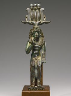 An Egyptian Bronze Figure of Harpocrates-Somtous, 26th/30th Dynasty, 664-342 B.C.