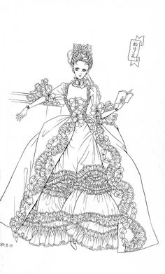 marie antoinette coloring pages - pin tillagd av gwen p coloring pinterest skiss