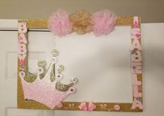 15 Ideas Baby Girl Birthday Party Princess For 2019 Princess Theme Birthday, Baby Girl Birthday, Princess Party, First Birthday Parties, Birthday Party Decorations, Baby Shower Decorations, Princess Birthday Centerpieces, Birthday Frames, Baby Shower Princess