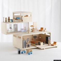 casa de muñecas moderna