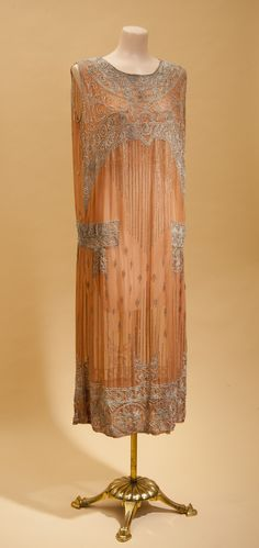 Just peachy. Mid 20s sheath with beadwork. Private collection.