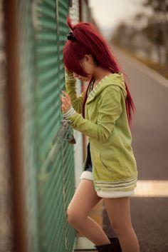 Kyoko cosplay... slightly too green