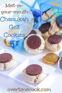 Melt-In-Your-Mouth Gelt Cookies from @overtimecook provide a sweet ending to your Hanukkah meal.