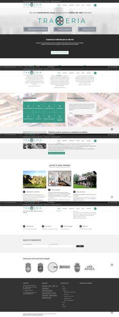 Pagina web para el estudio de arquitectura Tracería  www.traceriaestudio.com