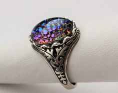 Dragons Breath Mexican Fire Opal Ring. Antique by WearitoutJewelz