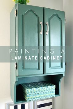 How To Paint Over Old Bathroom Cabinets little green notebook: painting laminate bathroom cabinets