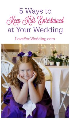 Don't let bored kids wreak havoc on your special day! Check out our tips for how to entertain kids at your wedding!