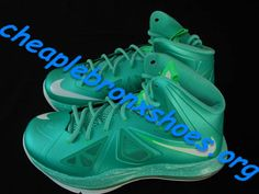 low priced ff083 02b6f Kids Cheap New Lebrons X 10 Shoes Big Boys Youth GS New Turquoise 543564 303