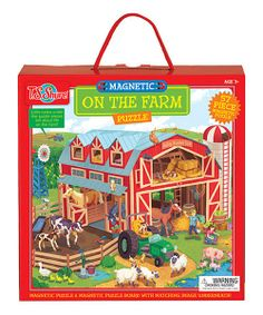 Visit the farm with this magnetic puzzle! The magnetic play board makes assembling easy and fun. Each board is printed with cool facts about each topic.
