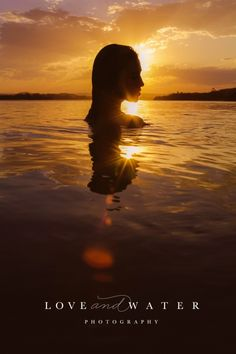 Strong pose, sunset silhouette with warm colors, beach photoshoot | Love and Water Photography | www.lovewaterphoto.com