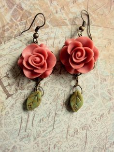 Items similar to Leave My Garden Necklace on Etsy Rainy Days, Truffles, Cherry, Leaves, Drop Earrings, Trending Outfits, Couture, Unique Jewelry, Handmade Gifts