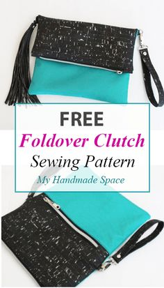 Foldover Clutch FREE Pattern – My Handmade Space Foldover Clutch FREE Pattern -… - Taschenmodelle Foldover Clutch, Diy Clutch, Clutch Purse, Handmade Clutch, Purse Wallet, Coin Purse, Purse Patterns Free, Bag Pattern Free, Bag Patterns To Sew