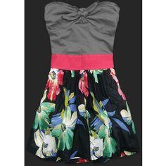 Abercrombie Fitch McKenna Summer Floral Print Strapless Mini Dress