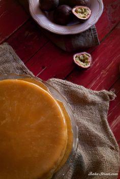 Marzipan cheesecake & rhubarb caramel - Tarta de queso y mazapán con caramelo de ruibarbo