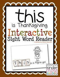 """This is Thanksgiving"" Interactive Sight Word Reader"
