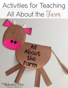 Farm unit activities for kindergarten and first grade! Easily integrate reading…