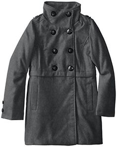 Monsoon Little Girls Molly Coat Size 5-6 Years Navy | Girls ...