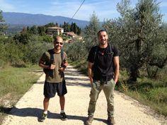 A beautiful photo of Paolo and Nicola taken on today's hike  Una bella foto di Paolo e Nicola scattata durante la passeggiata di oggi