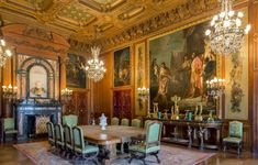 amazing-dining-room-with-Renaissance-interior-design-with-fireplace-and-chandeliers-and-sconces-and-wall-painting-and-large-dining-table-and-console-table-and-chairs amazing-dining-room-with-Renaissance-interior-design-with-fireplace-and-chandeliers-and-sconces-and-wall-painting-and-large-dining-table-and-console-table-and-chairs