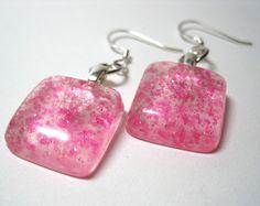 Cute & Kawaii Pink Sugar Resin Square Dangle by ExperienceDesigns, $20.00
