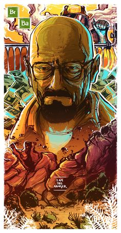 Walter White by Thales Molina / Breaking Bad poster Breaking Bad Arte, Breaking Bad Funny, Breaking Bad Tv Series, Breaking Bad Shirt, Breaking Bad Poster, Graphic Artwork, Artwork Design, Beaking Bad, Bad Film