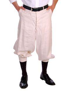 Rare mens linen knickers 1920s www.catspajamas.com