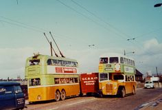 Trolleybus and Bus in the mid 1960s