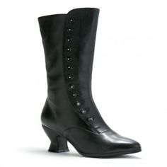 """""""Tavistock"""" Victorian Button Boots (Black) - ohmahgod, is it? CAN IT BE?! Real Victorian boots! I gotta have them!"""