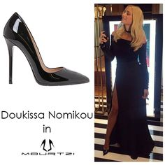 ΔΟΥΚΙΣΣΑ ΝΟΜΙΚΟΥ doukissa nomikou in Mourtzi shoes www.mourtzi.com #blackpumps #doukissa #sexy